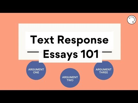 How To Write A Text Response | Essay Structure | Lisa Tran