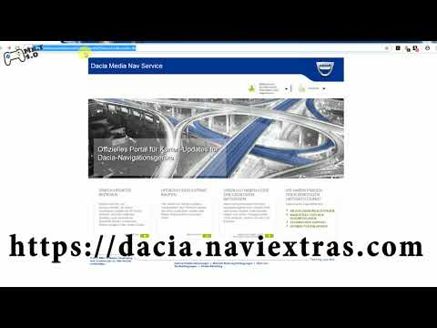 Kartenaktualisierung beim Dacia