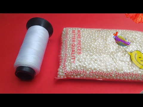 2 DIY Pearl Earrings Making At Home | DIY | Pearl Drop Earrings | Jewellery Making | uppunutihome
