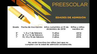 Inscripciones Preescolar Ciclo Escolar 2019-2020