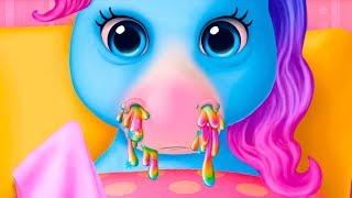 ДОКТОР КИД #6 Пони заболели и Кид лечит их. Мультяшшная игра про маленьких лошадок #пурумчата