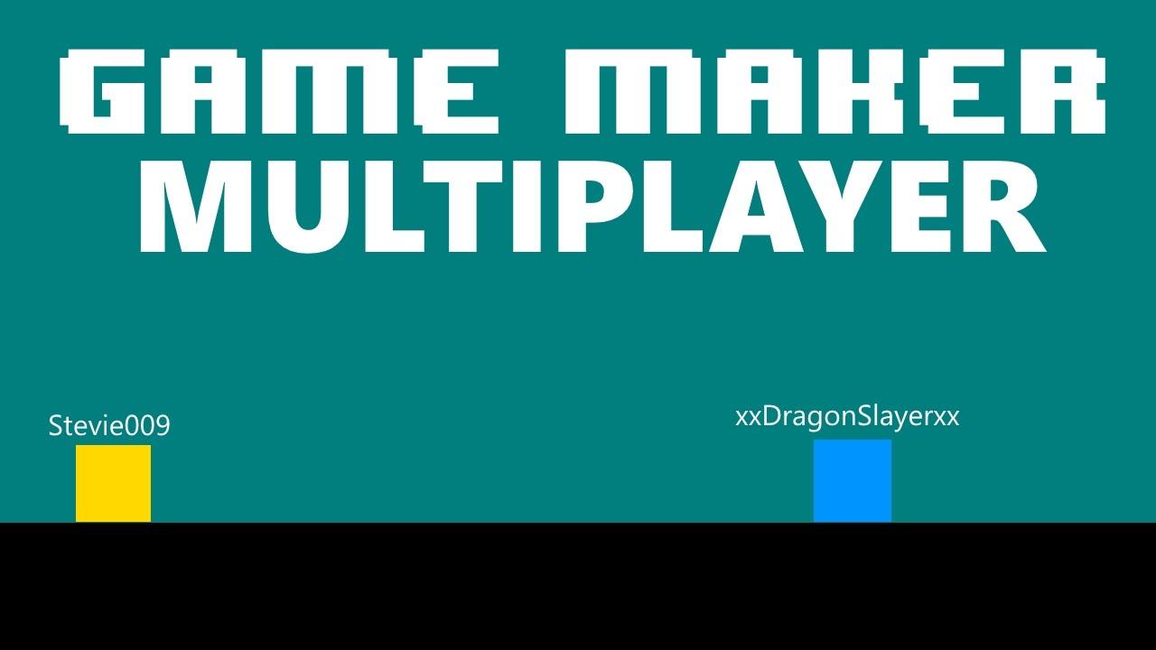 [Game Maker] Easy Multiplayer (LAN) + Top Down/Platform Game - YouTube