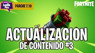 CONTENT UPDATE #3 PARK 7.10 - HELPER NOEL PAPA, LANZACORCHOS . FORTNITE SAVE THE WORLD