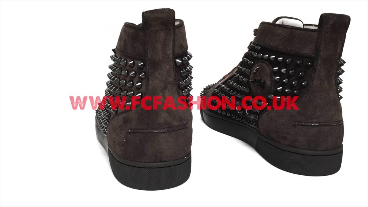 ea83b51670eb Christian Louboutin Mens Sneakers - Testa Di Moro Corne Brown Louis Orlato  Spikes Veau Velour