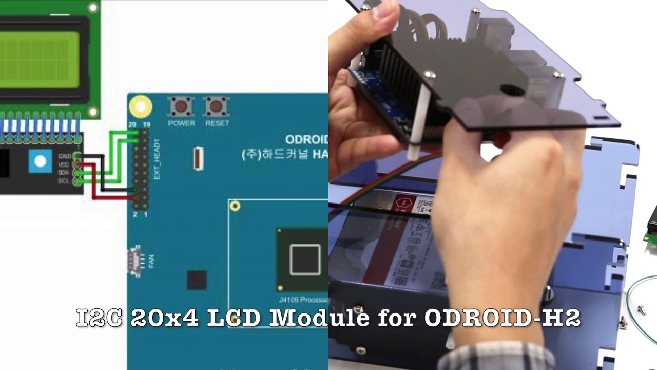 I2C 20x4 LCD Module for ODROID-H2