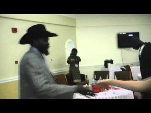 Independence of South Sudan - President Salva Kiir leaving the State Banquet