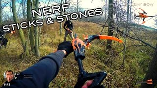 Nerf meets Call of Duty: Sticks and Stones (First Person in 4K!)