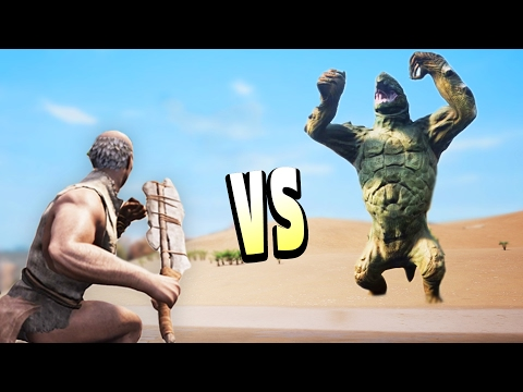 GIANT MONSTER Vs BARBARIAN! (Conan Exiles Gameplay)