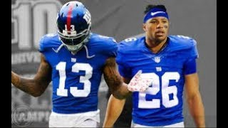 Odell Beckham Jr And Saquon Barkley Mix Nice For What Ft. Drake (FUTURE TEAMMATES!)