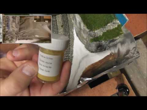 Model railway Diorama part 12 using Woodland scenics earth colors kit