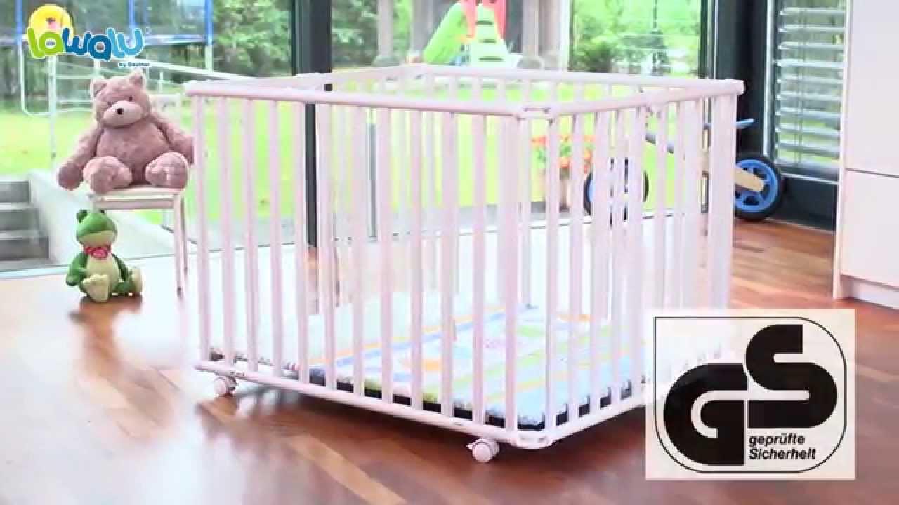 parc b b pliant ameli de lawalu par geuther youtube. Black Bedroom Furniture Sets. Home Design Ideas