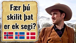 Old Norse   Can Norwegian, Danish and Icelandic speakers understand it? @Jackson Crawford