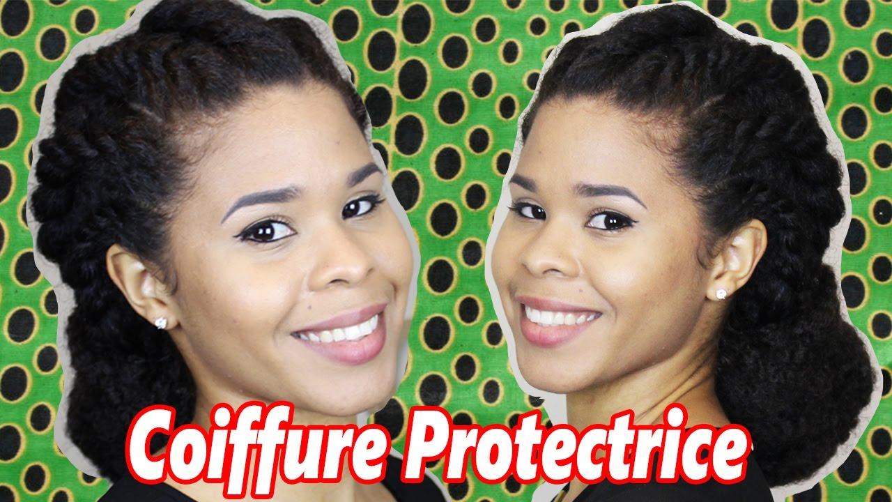 Idée de COIFFURE PROTECTRICE pour Cheveux COURTS ou LONGS - YouTube
