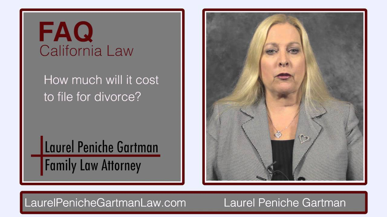 how much it cost to file for divorce in california