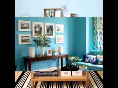 Teal and brown living room decorating ideas youtube for V a dundee living room