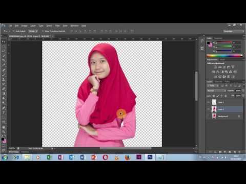 Teknik Mudah dan Cepat Crop Foto dan Menempelkan Foto Pada Objek Lain Menggunakan Tutorial Photoshop.
