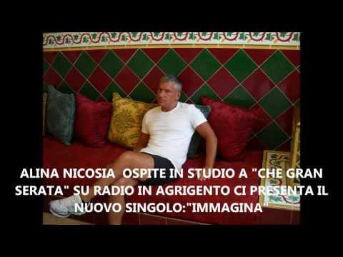 """ALINA NICOSIA PROTAGONISTA IN STUDIO A """"CHE GRAN SERATA"""" SU RADIO IN AGRIGENTO"""