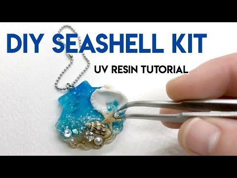 DIY Seashell Kit, UV Resin Tutorial