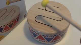 Plan Toys Solid Wood Drum - Quick Overview