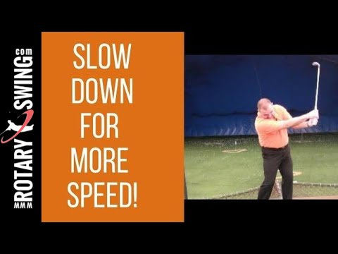Slow Down for More Speed!