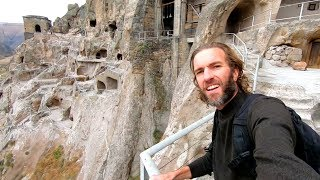 One Day in the Country of Georgia   Incredible Vardzia Caves