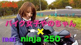 【モトブログ #77】バイク女子やのちゃん×ninja250 残念紅葉ツーリング<後編>