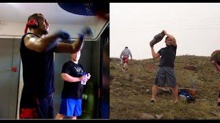 Khabib Nurmagomedov and Tony Ferguson training for fight on TUF 22 Finale