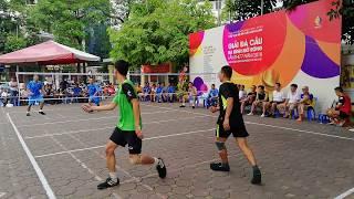 Đôi nam Chí Linh vs Linh Lang (trận 2) ♡ Giải đá cầu Ba Đình 2018 | Vietnamese Shuttlecock Kicking