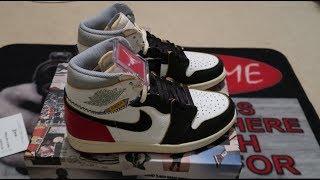 pretty nice 3c2a8 0c6be Air Jordan 1 Retro High Union LA Black Toe Sneaker Unboxing