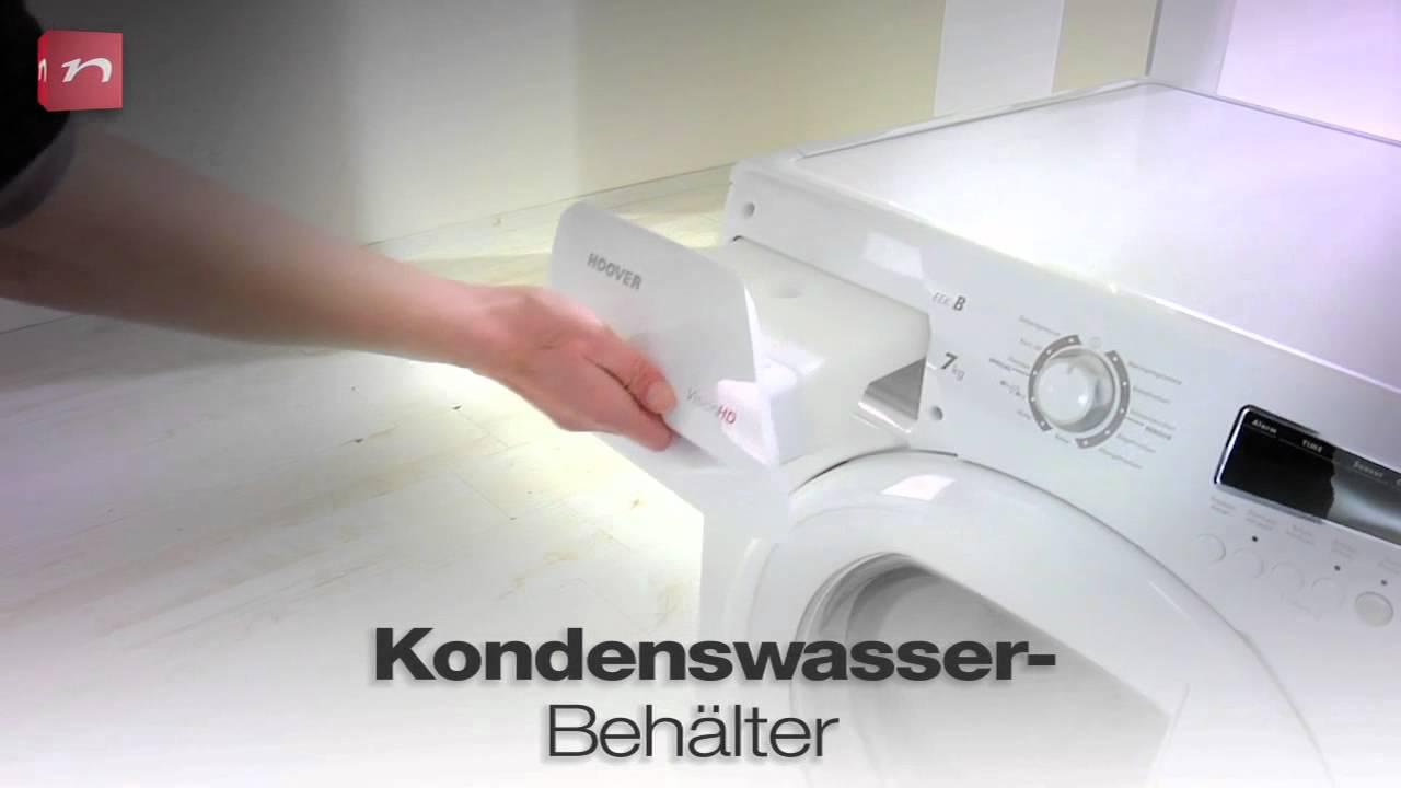 Hoover kondenstrockner vhc bt youtube