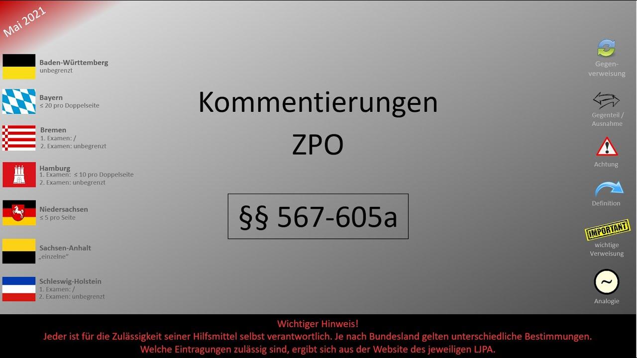 06.X Kommentierungen ZPO (§§ 567-605a)