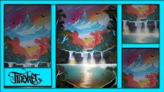 Spray Paint Art - Spring Landscape by: TRASHER