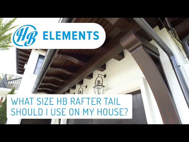 What size rafter tail should I use on my house? | Hardie Boys FAQ #3