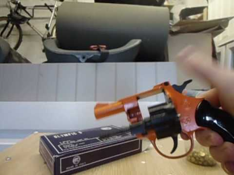 Olympic 6 v2 blank firing revolver review and firing (UK legal)