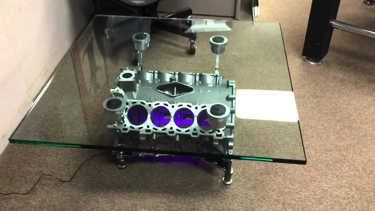Jaguar Engine Block Coffee Table - YouTube