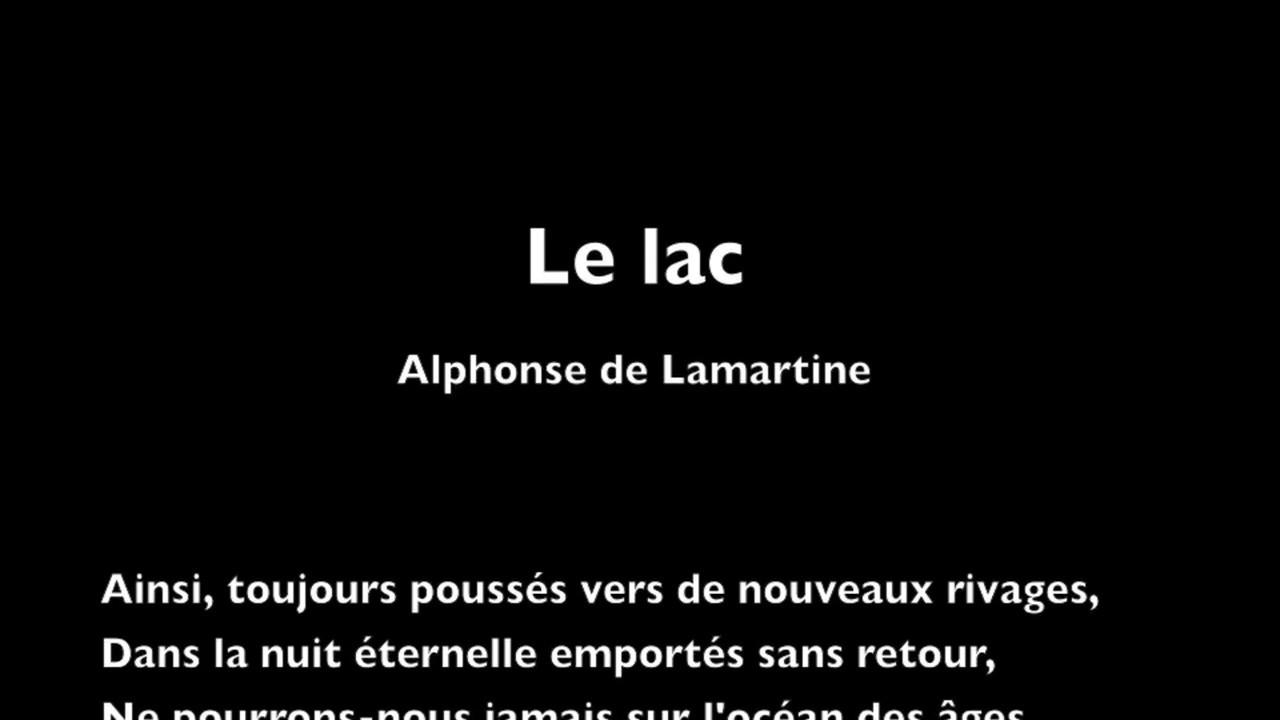 Le Lac Dalphonse De Lamartine Lecture