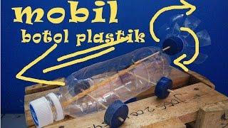 Tutorial Membuat Mobil Mainan Dari Botol Plastik Bertenaga Karet Gelang