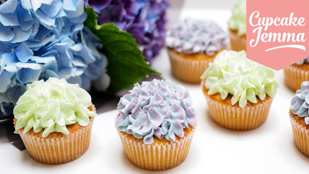 Décoration De Cupcake Hydrangea Cupcake Decoration Tips Techniques Cupcake Jemma