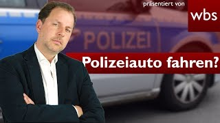 Darf ich ein Polizeiauto fahren/kaufen? | Rechtsanwalt Christian Solmecke