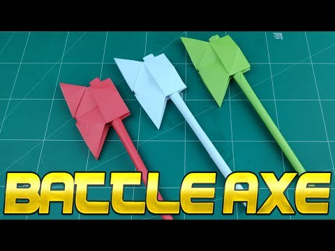 How To Make Paper Axe Weapon | DIY Easy Battle Weapon Toy Tutorials | Handmade Origami For Kids