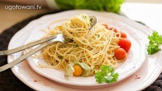 Przepis FIT - Obiad w 10 minut - Makaron spaghetti z czosnkiem i pietruszką   Ugotowani.tv HD