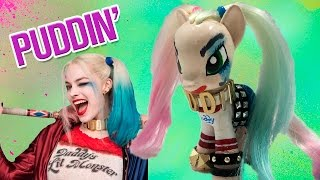 Custom HARLEY QUINN SUICIDE SQUAD MLP | How to Dye My Little Pony  Hair