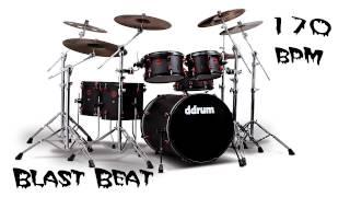 Blast Beat Drum Loop 170 bpm