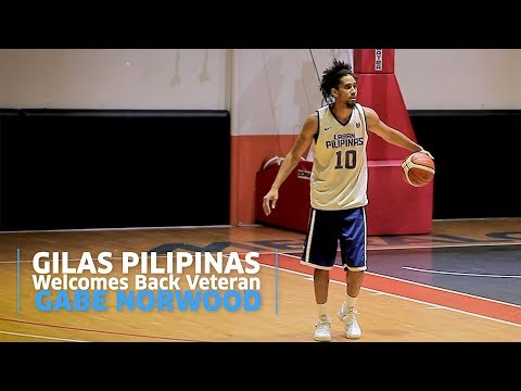 Gilas Pilipinas Welcomes Back Veteran Gabe Norwood (VIDEO)