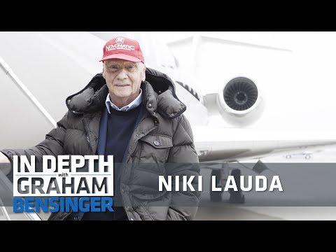 Niki Lauda takes reporter flying on his airplane