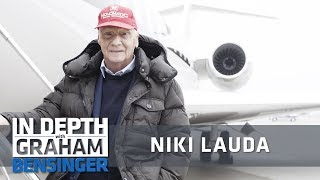 Niki Lauda takes reporter flying on his airplane