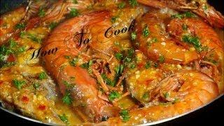 GINORMOUS MEGA BUTTER GARLIC SHRIMP &amp JAMAICAN SLICE SNAPPER FISH