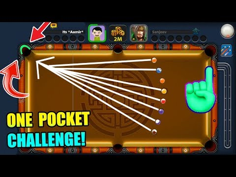 The ONE POCKET CHALLENGE In 8 Ball Pool, but something happened...