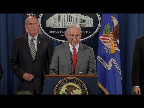 Download Youtube: Attorney General Jeff Sessions live remarks on government leaks, national security
