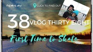 Vlog #38 First Time to Skate! ⛸ | Schipluiden | EASTMEETSWEST by Jeroen & Kyn ♥️